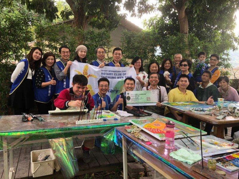 台灣畫話協會電腦、數位印刷設備捐贈儀式